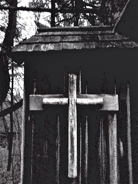 Cross at the chapel<br /> <br /> Credit: Roseanne T. Sullivan