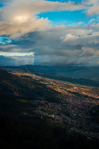 Bogota as seen from Monserrate