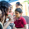 Alexander Ramirez, 6, gets his face painted during the Latino Heritage Month Festival put on by the United Neighbors of Fitchburg on Saturday afternoon. SENTINEL & ENTERPRISE / Ashley Green