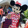 Allan Montes, 5, meets Minnie Mouse during the Latino Heritage Month Festival put on by the United Neighbors of Fitchburg on Saturday afternoon. SENTINEL & ENTERPRISE / Ashley Green