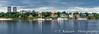 Reflections in the Daugava River in Riga, Latvia.