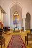 St. Saviour's Anglican Church interior, Riga, Latvia.