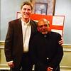 Chairman Daniel Leahy II with Father Gregory Ramkisson of Kingston, Jamaica