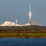 Intelsat 35e Atop a Falcon 9 Booster