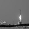 MUOS5 Satellite on an Atlas V Rocket in B&W