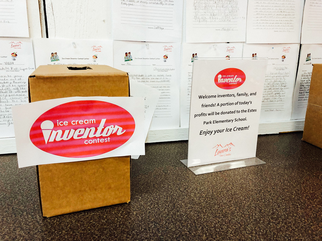 . A ballot box that will hold the name of the winning flavor. (Bob Wooley/Trail-Gazette)