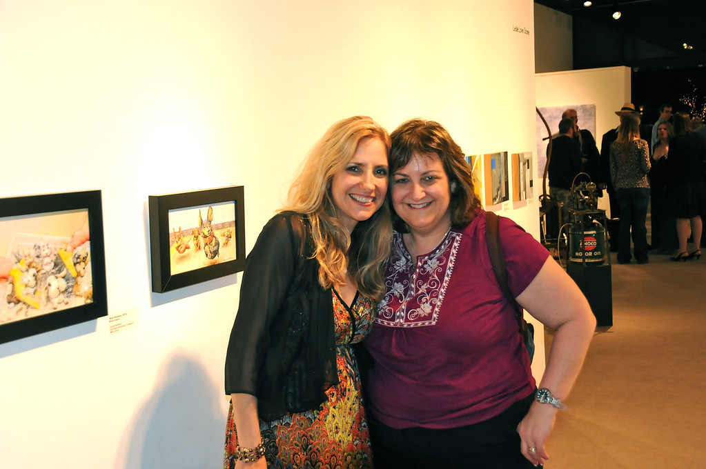 Sisters!! Laura and Karen,<br /> Art Show Opening, Brea Art Gallery - January 28, 2012