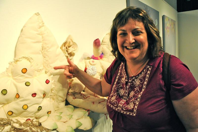 Karen loves the exhibit!