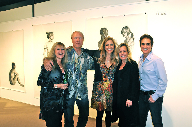 Jean Pasco, Ted Hoffman, Laura Hoffman, Holly Jergensen, Jim Neil<br /> Brea Art Gallery SHow Opening, 1-28-12, Best of MA, MFA from 5 different art schools