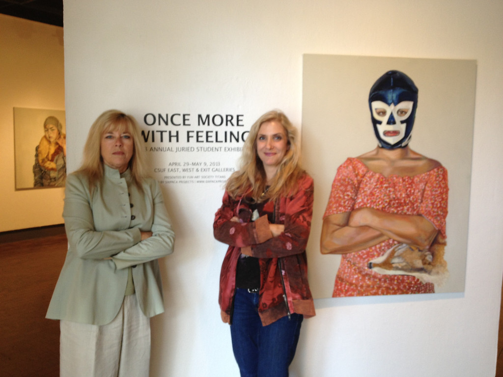 Once More With Feeling Juried Art Exhibit, CSUF West Gallery<br /> Jean Pasco, Laura Hoffman