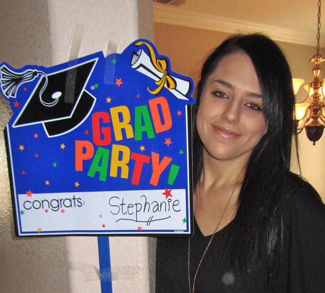 Stephanie Ferrera,<br /> College graduate!<br /> Chaffee College, 2011