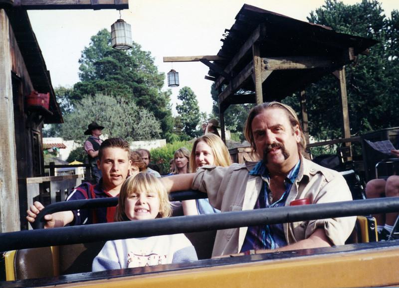 1995 Biker Joel<br /> with kids, around 1995