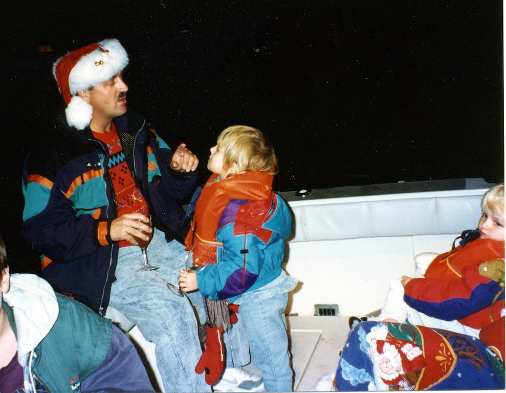 Joel Pasco on Boat with Jessica & Andy<br /> Naples<br /> Christmas 1994