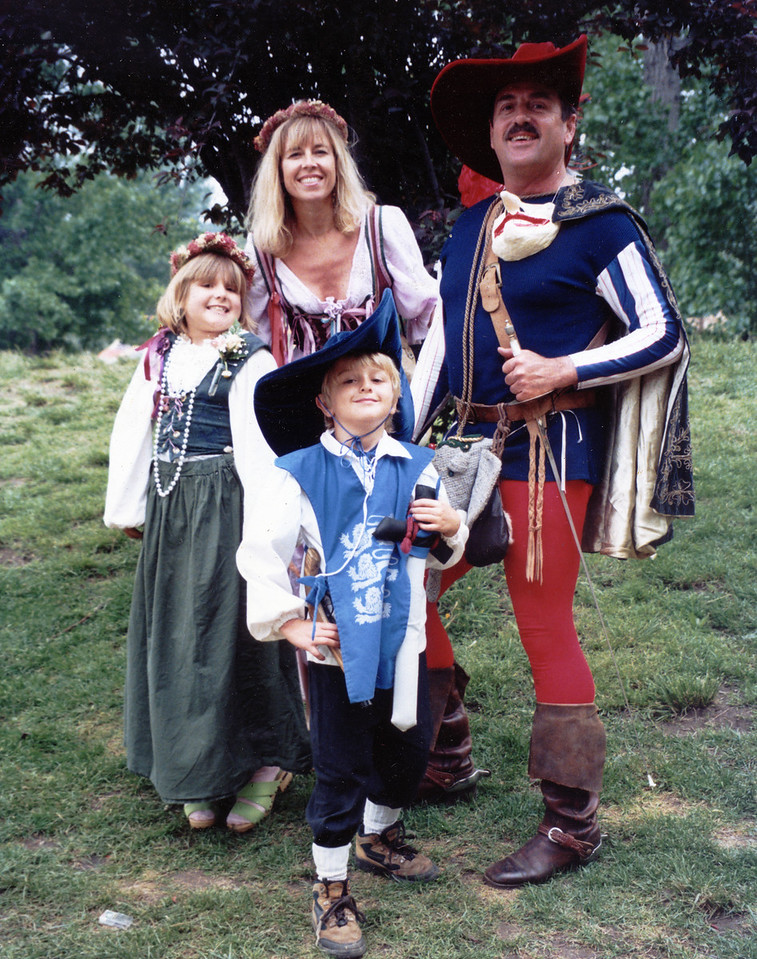 The Renaissance Faire<br /> Jean, Joel Pasco and Jessica and Andy Pasco<br /> 1998