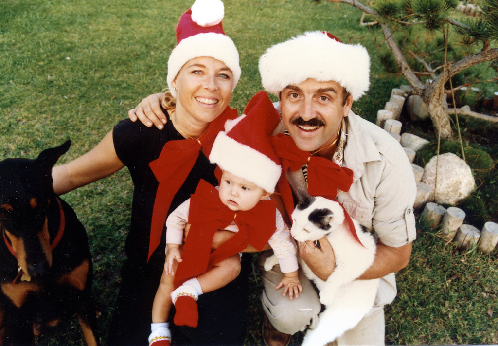 Jean, Joel and Jessica Pasco<br /> Christmas 1990