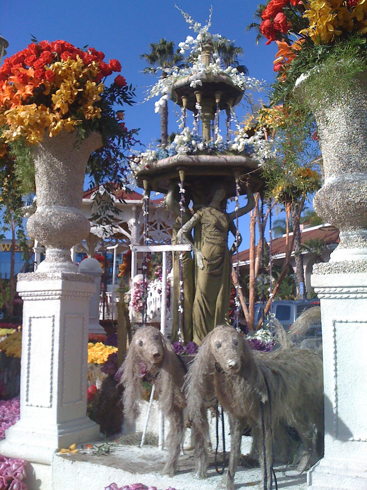 Downey's Rose Parade Float<br /> on Display
