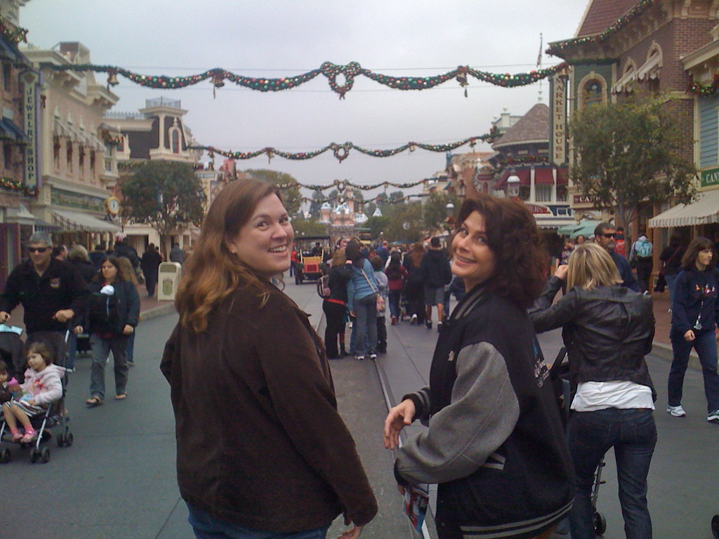 Barbara and Wendy<br /> Walking down Main Street<br /> Disneyland