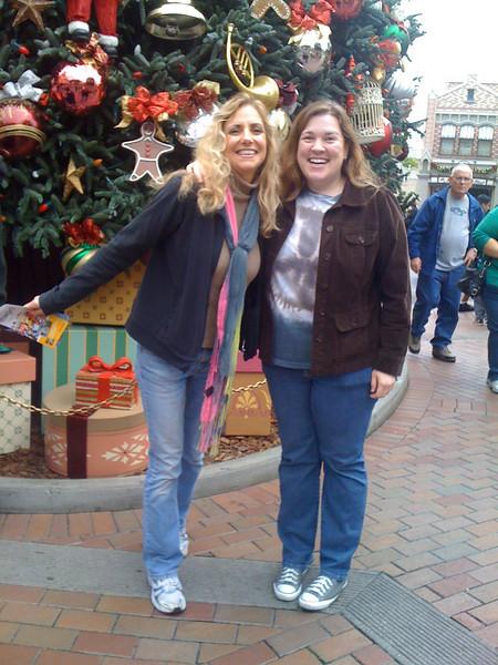 Celebrating the end of finals at Disneyland!<br /> Laura Hoffman & Barbara Malley
