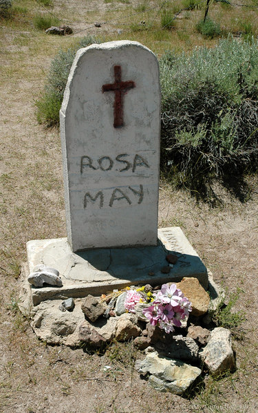 Rosa May's Grave at Bodie