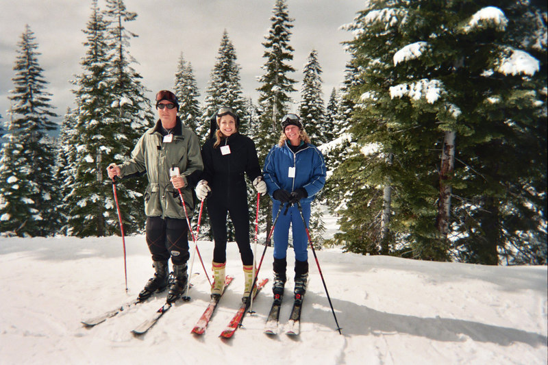 Ted, Laura and Robin go skiing, photo shot by Ray