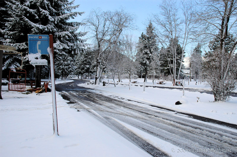 Shasta KOA snow scene