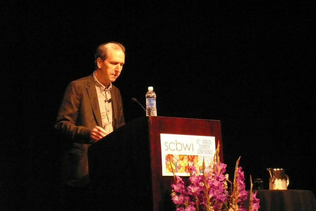 David Wiesner, keynote illustrator, at the SCBWI 2013 conference.