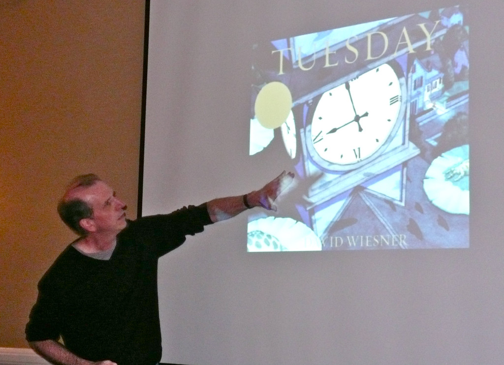 David Wiesner explains his artwork for 'Tuesday.'
