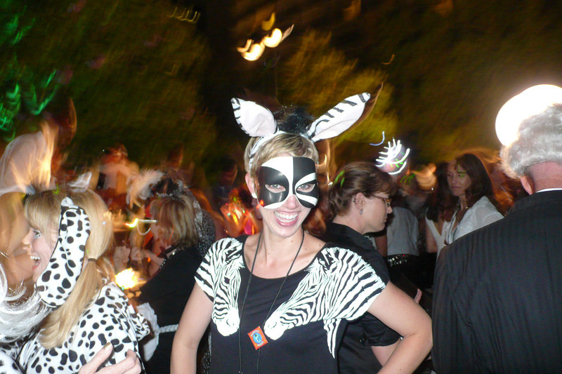 SCBWI 2013 Black & White gala dance - Katy Betz looking awesome as a zebra!