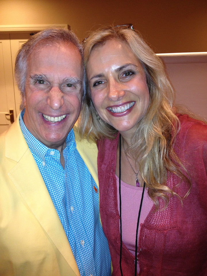 Henry Winkler (The Fonz) and Laura Hoffman.