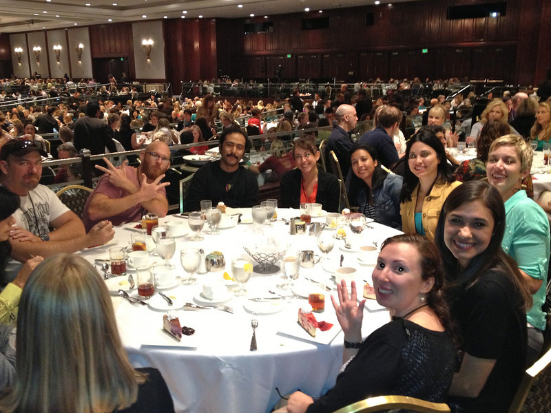 Illustrators convene at the 2013 SCBWI luncheon.