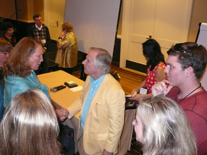 Henry Winkler gets surrounded by admirers at SCBWI's 2013 summer conference.