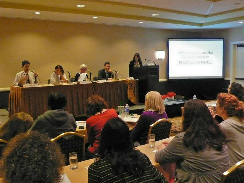 Illustrator Intensive First Look panel: Giuseppe Castellano, Kristen Nobles, Allyn Johnston, Steve Malk and Sarah Baker.