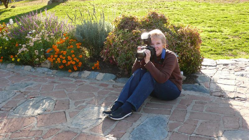 Sam and her Nikon<br /> at Mission San Juan Capistrano