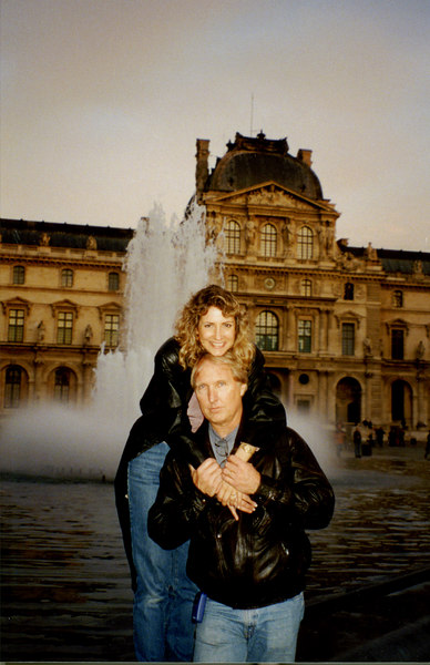 Ted and Laura in Paris, 1998