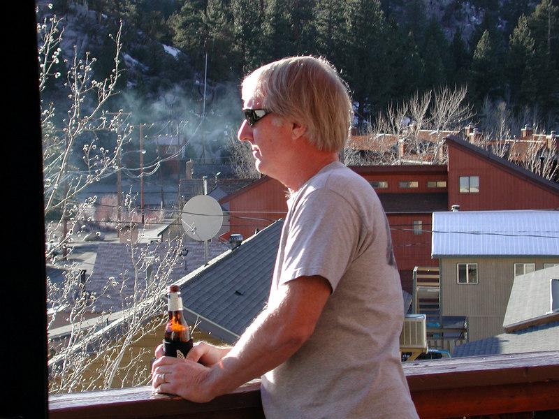 Backlit Ted Gazing at June Lake