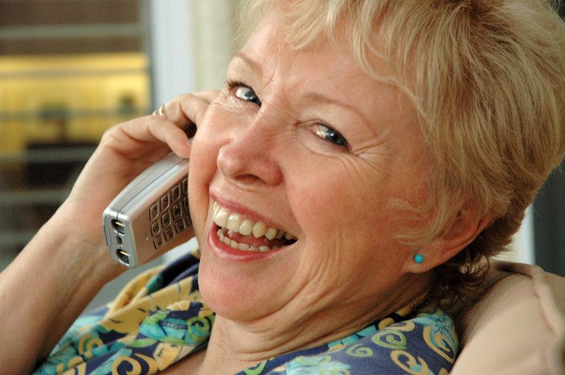Patti on the Phone