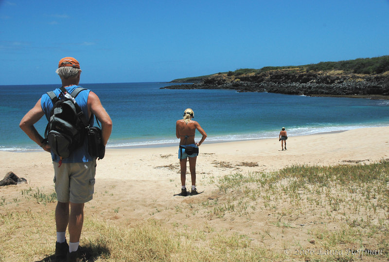 Molokai hikers on the way to Ilio Point