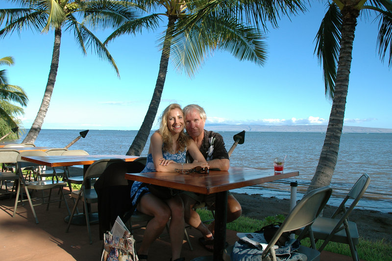 Ted and Laura at Hotel Molokai, Hawaii