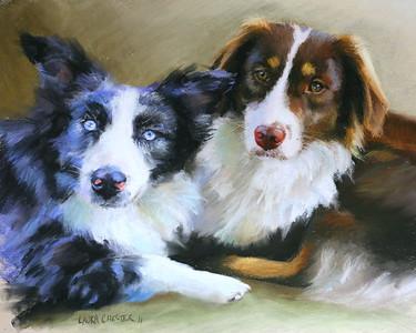 """""""Ellie & Charlie"""" 15x19 Pastel 2011"""