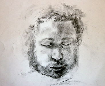 """Matt Slepping""  Charcoal Drawing 45 Minuets"