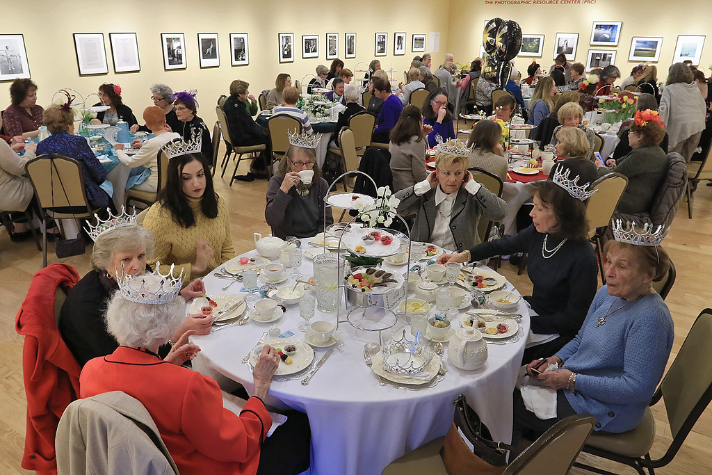 . The Laurelwood Garden Club held its Annual Scholarship Tea on Saturday, January 19, 2019 at the Fitchburg Art Museum in the Ronald M. Ansin Gallery. They had nine tables with diferent themes featuring floral centerpieces and all the place settings and decor for each table carried the theme. SENTINEL & ENTERPRISE/JOHN LOVE