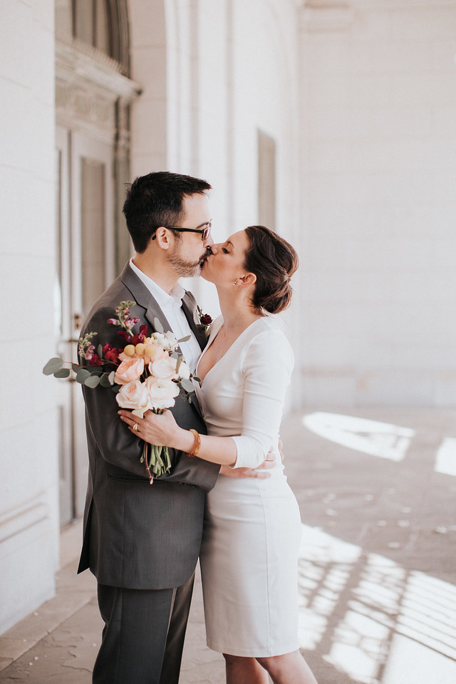 Lauren + Mike // City Hall Elopement