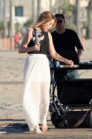 Lauren Conrad seen on the beach.