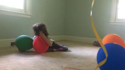Helium ballons, first dance recital