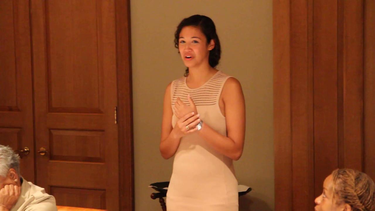 Video of Lauren's speech