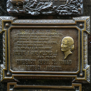 Plaque to Evita