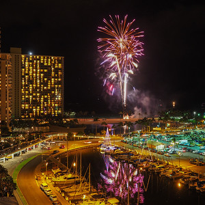 Hilton Hotel Friday Night Fireworks