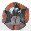 """#0334 Thunder Egg, Lava Cap Claim, Little Florida Mtns., Deming, New Mexico USA<br /> The overall symmetry is offset by a black stroke that cuts through the 'seed' and zig zags out. The black psuedomorphs are set in white agate.<br /> 2 7/8 x 2 3/4 x 1"""" 0.35 lb<br /> All agates in the Sample Gallery have been sold."""