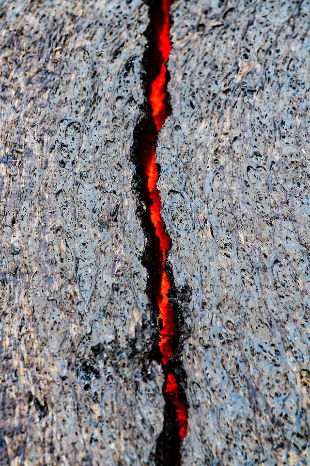 Lava crack.