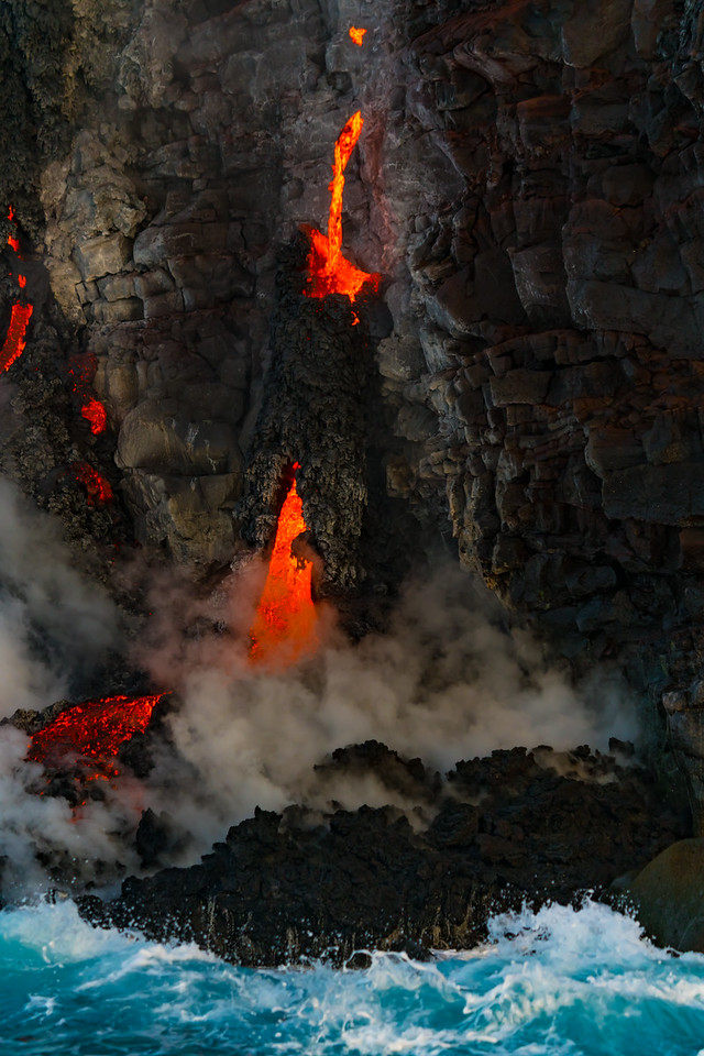 Start of a lava tube.